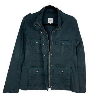 Kensie Green Utility Military Jacket Size L